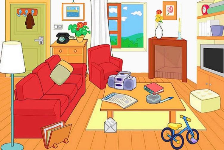 Học liệu ghép hình nhận biết đồ vật trong nhà