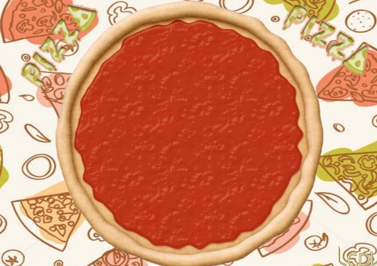 Học liệu cắt dán xếp hình pizza