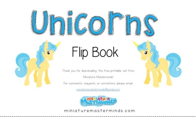 Sách tập viết số tiếng Anh Unicorn