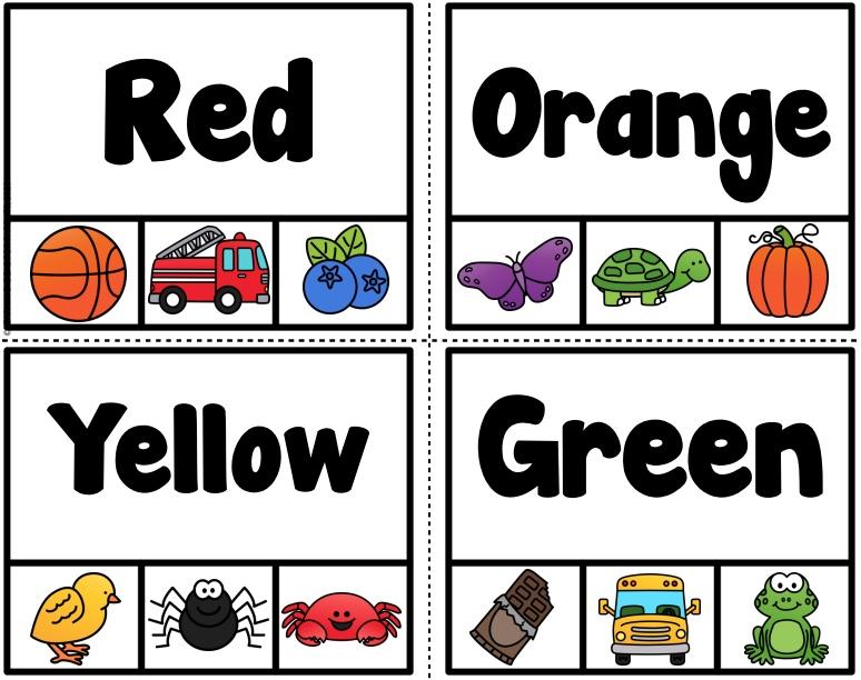 Thẻ học tiếng Anh nhận biết màu sắc