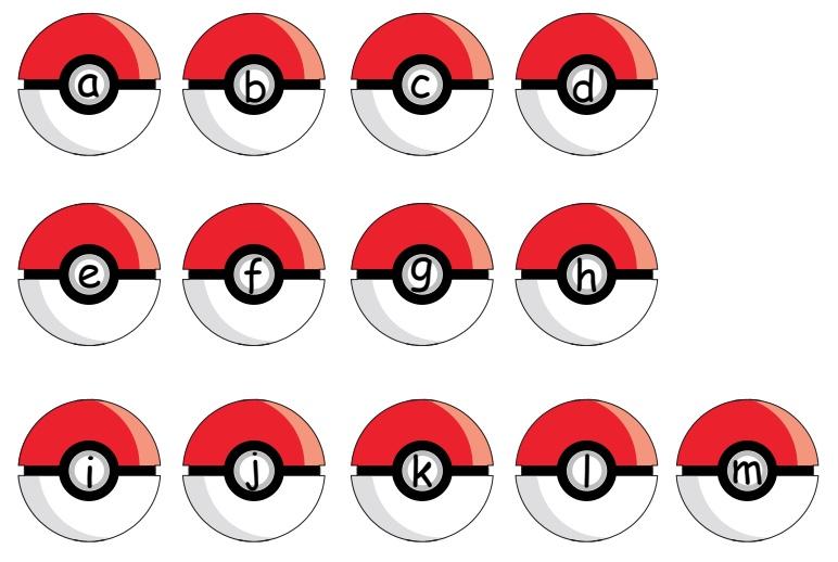 Thẻ học chữ cái tiếng Anh Pokemon